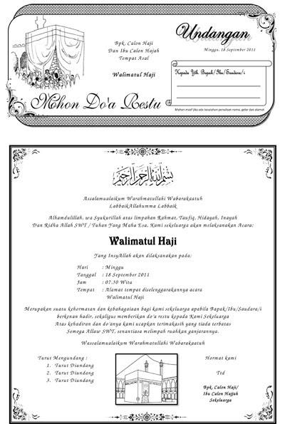contoh surat undangan selamatan pergi haji contoh isi