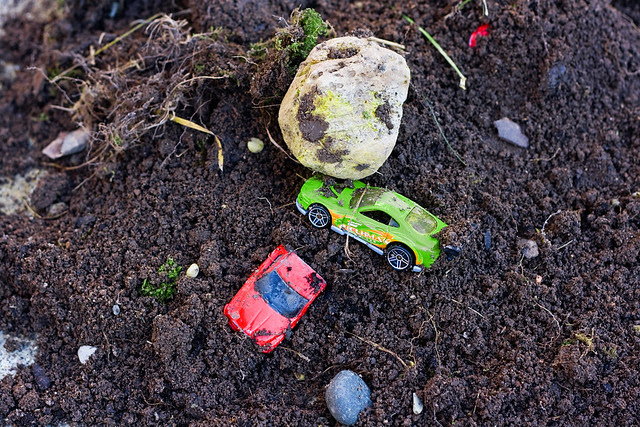 cars in dirt