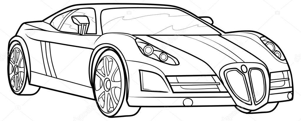 Yarış Arabası Resmi çizimi Resimlere Göre Ara Red