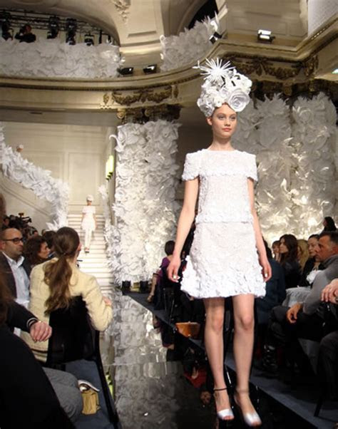 Paper flowers on the runway