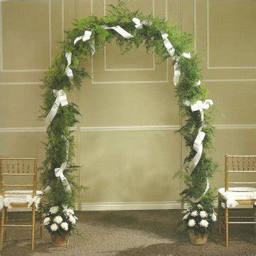 Wedding Arch with Greenery