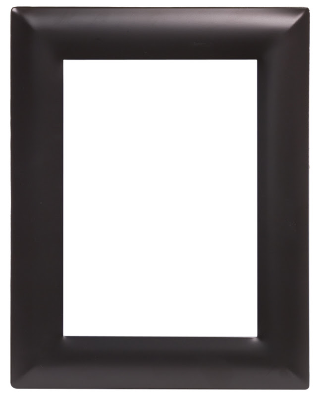 Smooth Blacksilver Metal Picture Frame 7 14 X 9 14 Lmf657