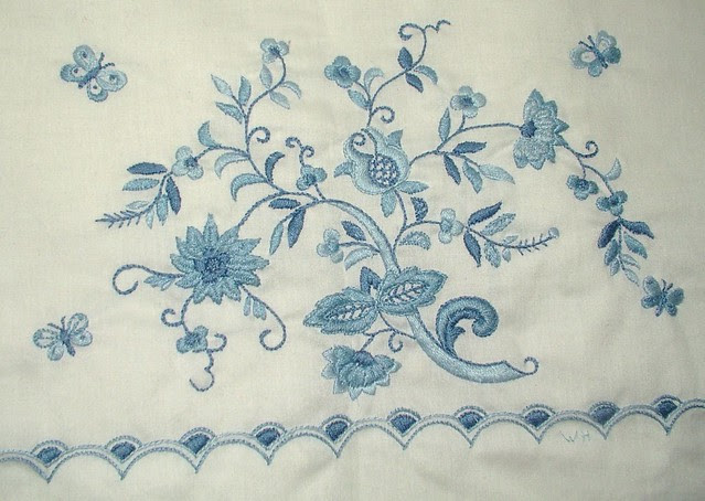 center details of embroidery