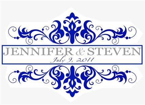 Royal Blue Border Design Christopherbathum Co   Wedding