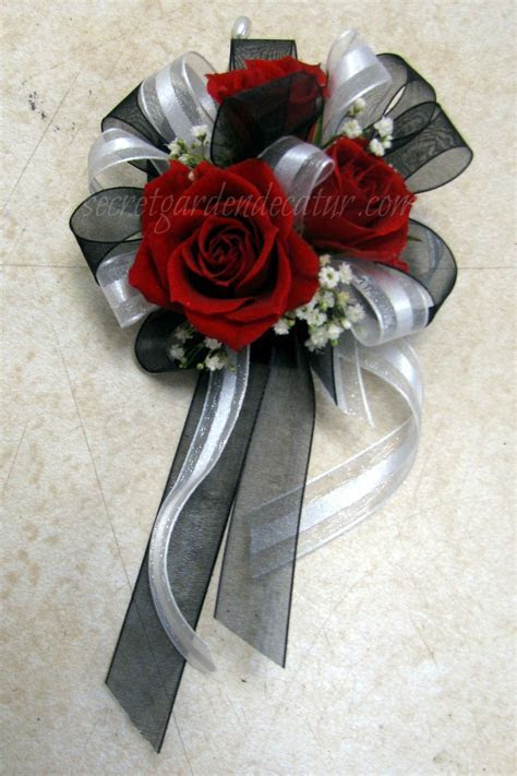 For the Mom's. Pin on corsages with shear white and black
