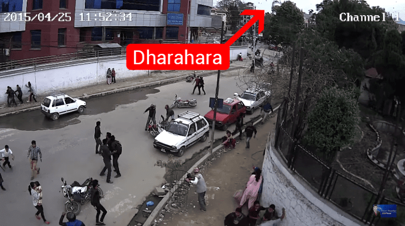 dharahara collapse footage