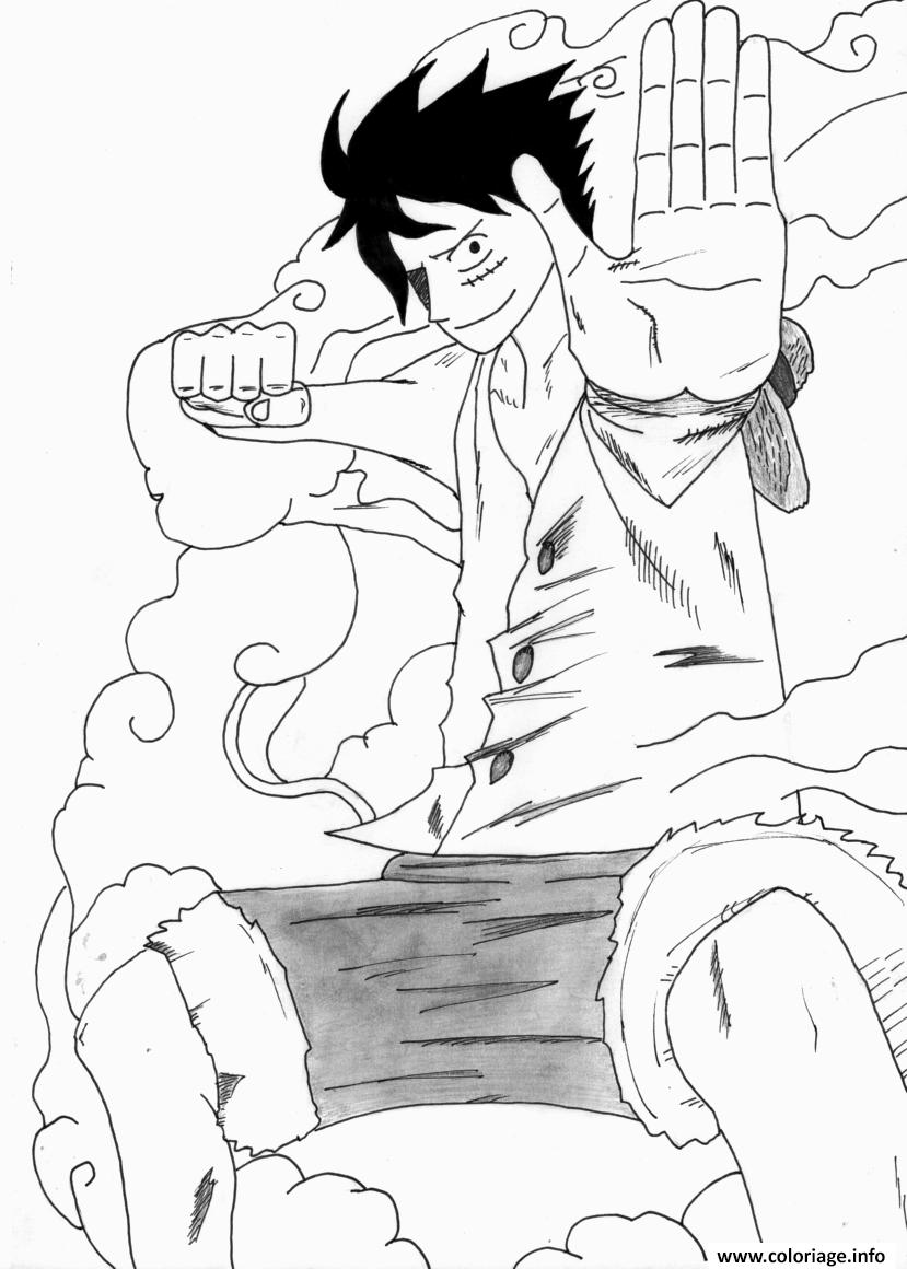 Coloriage Luffy Gear 2 epiece Dessin  Imprimer