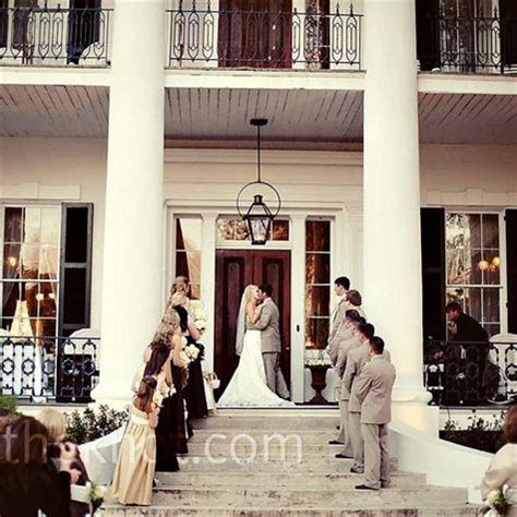 The ceremony took place on the front steps of the