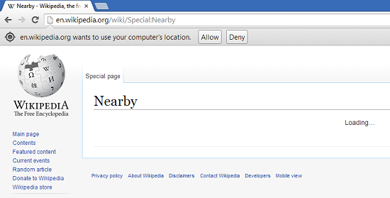 Wikipedia Nearby