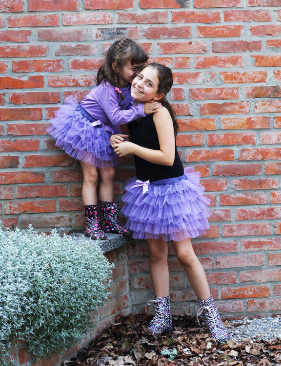 lilac skirts tulle