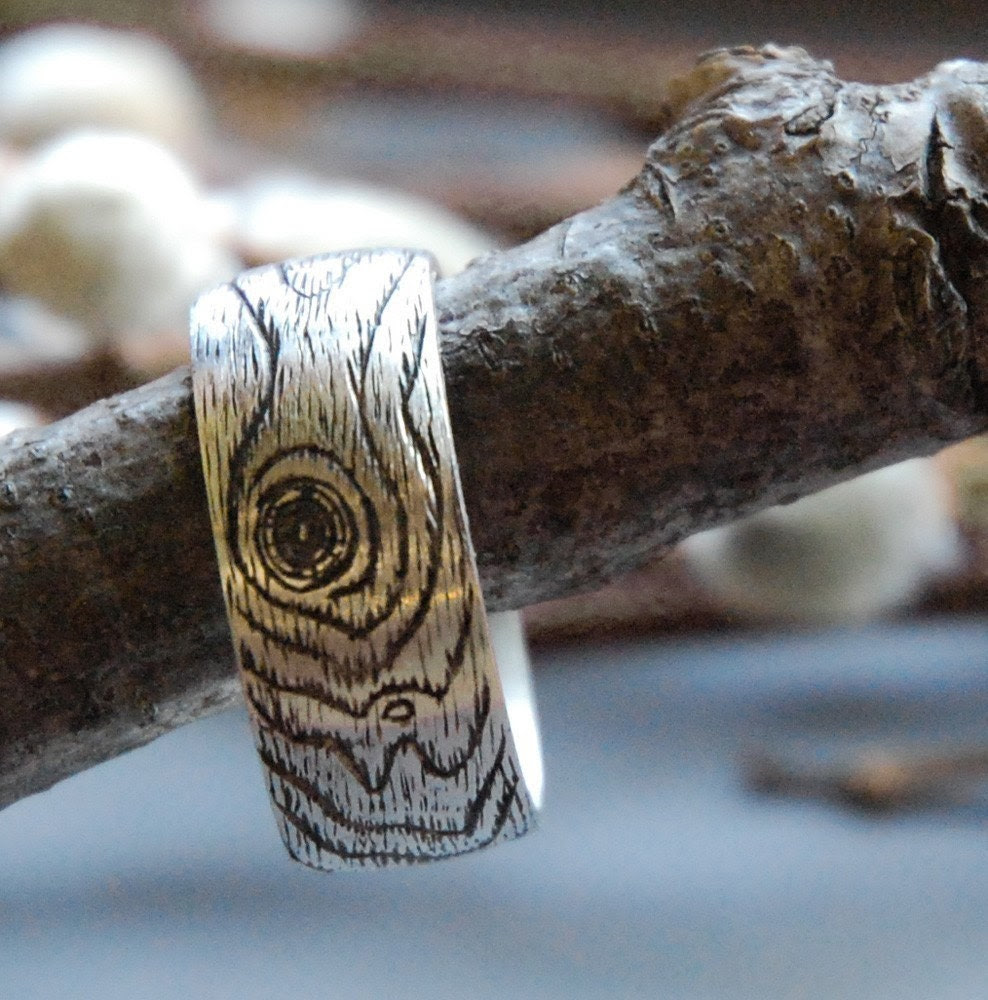 PLYWOOD  faux bois ring size 6.5