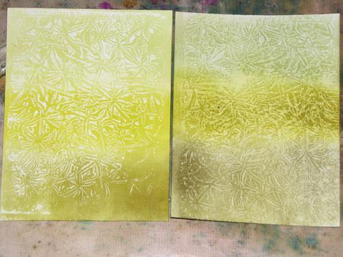 Wax Paper Technique #2 - Faux Embossing Resist 012