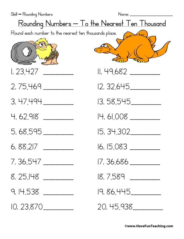35 Rounding To The Nearest Ten Thousand Worksheet - Free Worksheet  Spreadsheet