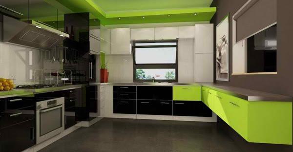 Inspirasi Dapur  Hijau  Segar Dari Apartemen Seorang