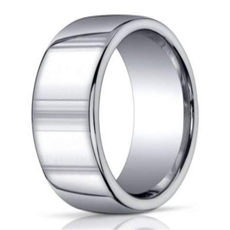 10mm Designer Argentium Silver Domed Men's Ring