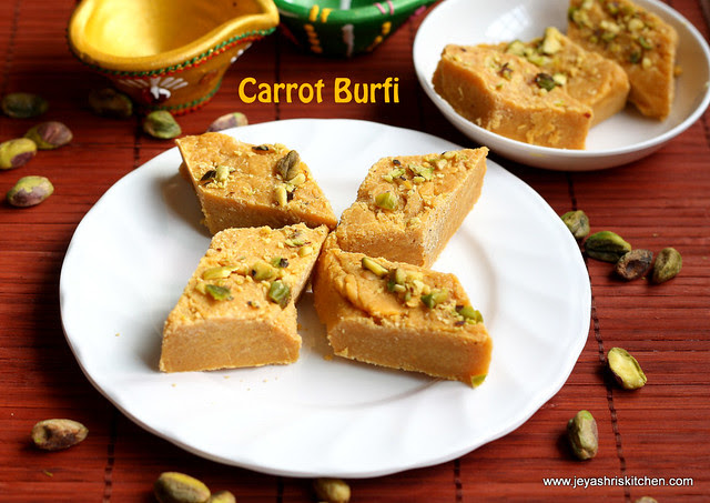 Burfi - with-carrot