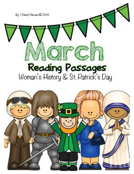 March Closed Reading Passages for 4-6 {Women's History & S