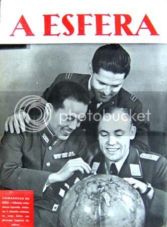 Contracapa do número 47, com uma fotografia de três oficiais, um alemão, um italiano e um japonês. * Image hosted by Photobucket.com
