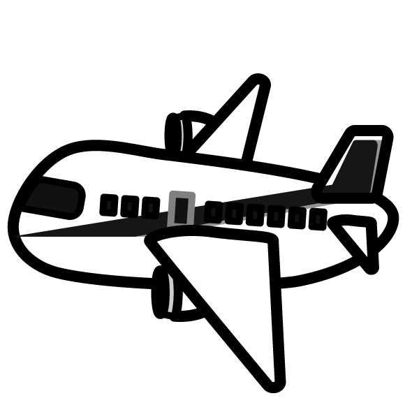 かわいい飛行機の無料イラスト商用フリー オイデ43