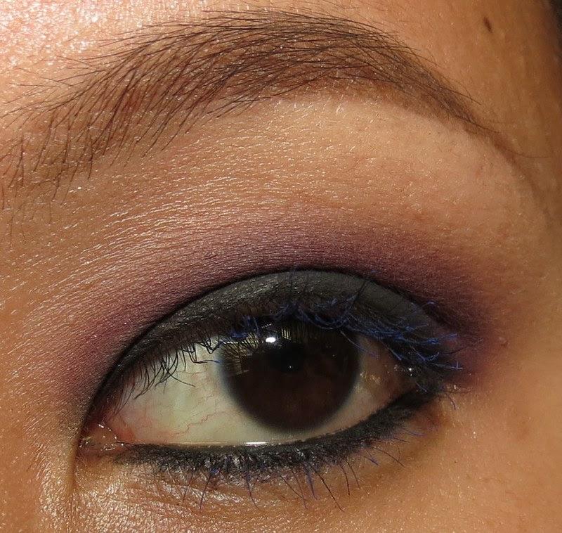 Purple and black smokey eye