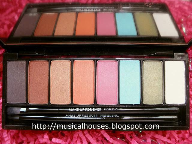 MUFE Arty Blossom Palette colours