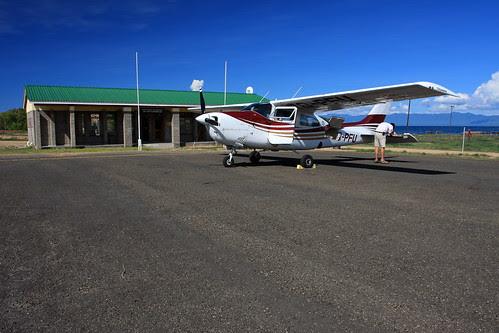 Ulendo Airlink Cessna 210 in Likoma, Malawi