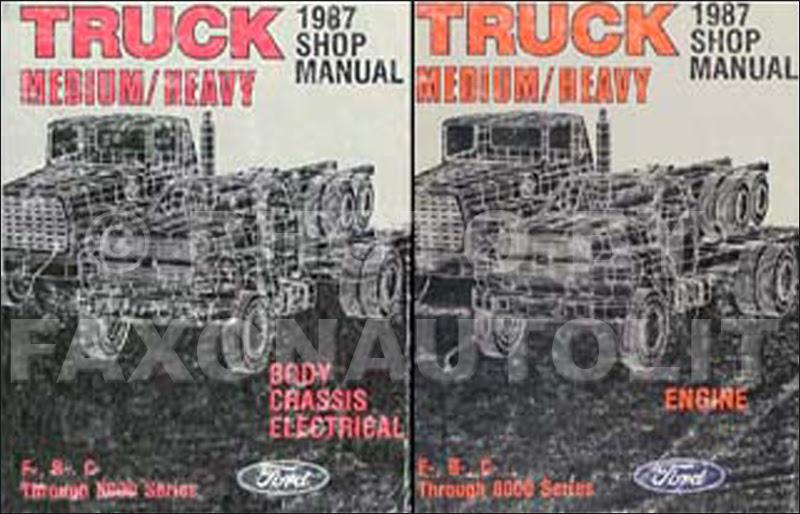 1987 Ford Truck (COWL) Foldout Wiring Diagram F600 F700 ...