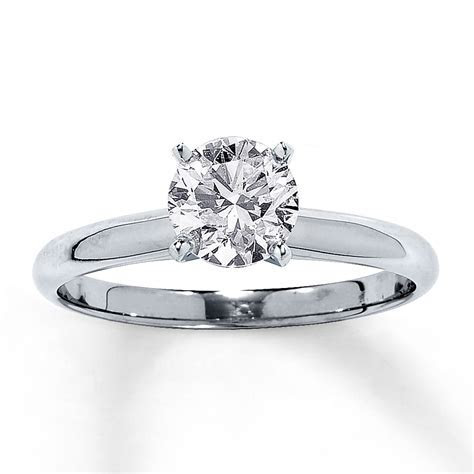 Jared   Diamond Solitaire Ring 1 carat Round cut 14K White