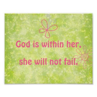 Inspirational Christian Quote God is Within Her