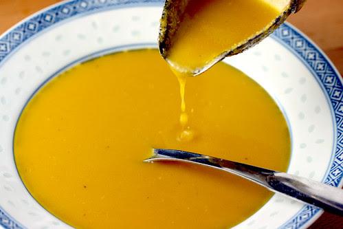 Yellow beet soup