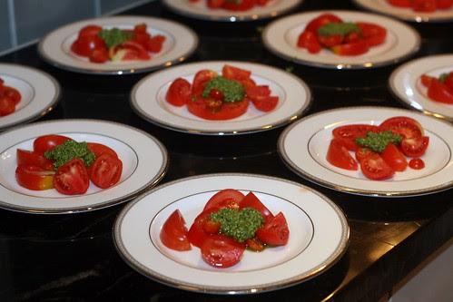 Garden Tomatoes with Cilantro Pesto
