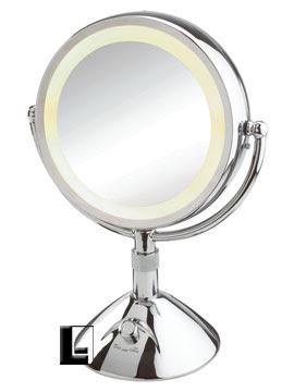 Conair 9 Inch Lighted Vanity Mirror 5x 12x Chrome Lodgingkitcom