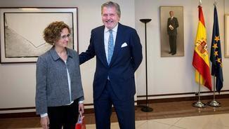 La consellera Ruiz i el ministre Méndez de Vigo s'han reunit aquest dijous a Madrid (EFE)