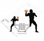 Football Quarterback Silhouette Yard Art Woodworking Pattern - fee plans from WoodworkersWorkshop® Online Store - football,sports,silhouettes,shadows,black,yard art,painting wood crafts,scrollsawing patterns,drawings,plywood,plywoodworking plans,woodworkers projects,workshop blueprints