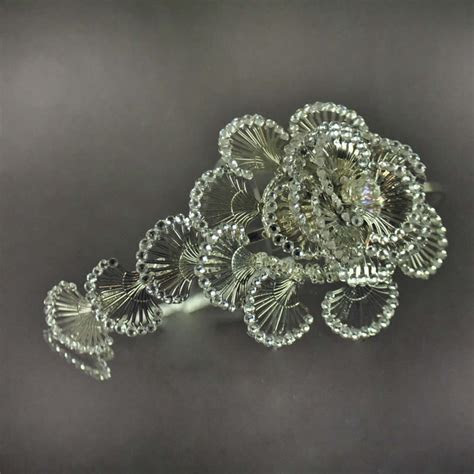 Flor Brillante   Handmade Wedding Hair Band
