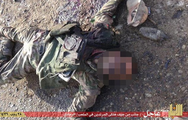 Murdered: A Sunni tribal leader said many tribal fighters died trying in vain to defend the city
