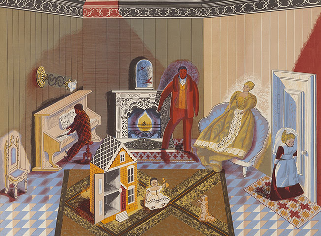 Lyons: Edward Bawden, The Dolls at Home, 1947