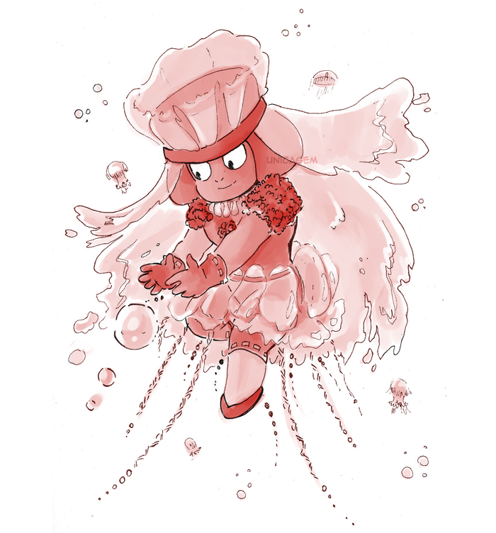 """30 Day Magical Girl Drawing Challenge - Day #3: Jellyfish "" Ruby!"