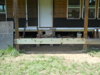 New Porch Beam in Place