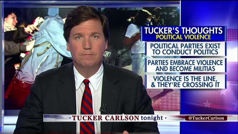 Image result for 'The Left Has Gone Insane': Tucker on Progressives' Use of Political Violence