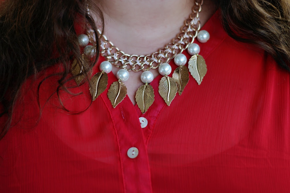 Große Größen Plus Size Fashion Blog DIY statement necklace