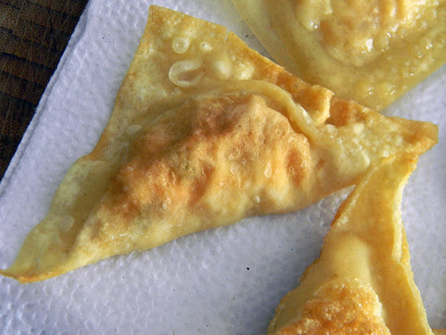 Pan-Fried Vegetable Wontons