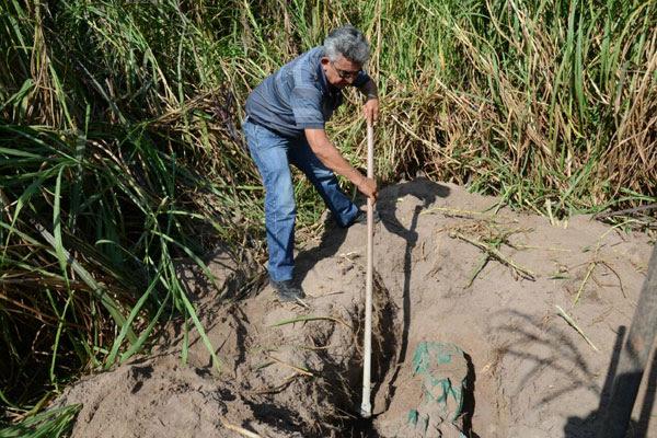 Corpo estava em uma cova média a cerca de 250 metros de onde vítima e assassino moravam