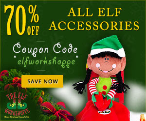 50% Off All Elf Accessories at ElfWorkshoppe.com