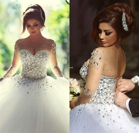 Discount Sheer Vintage Wedding Dresses 2015 White Black