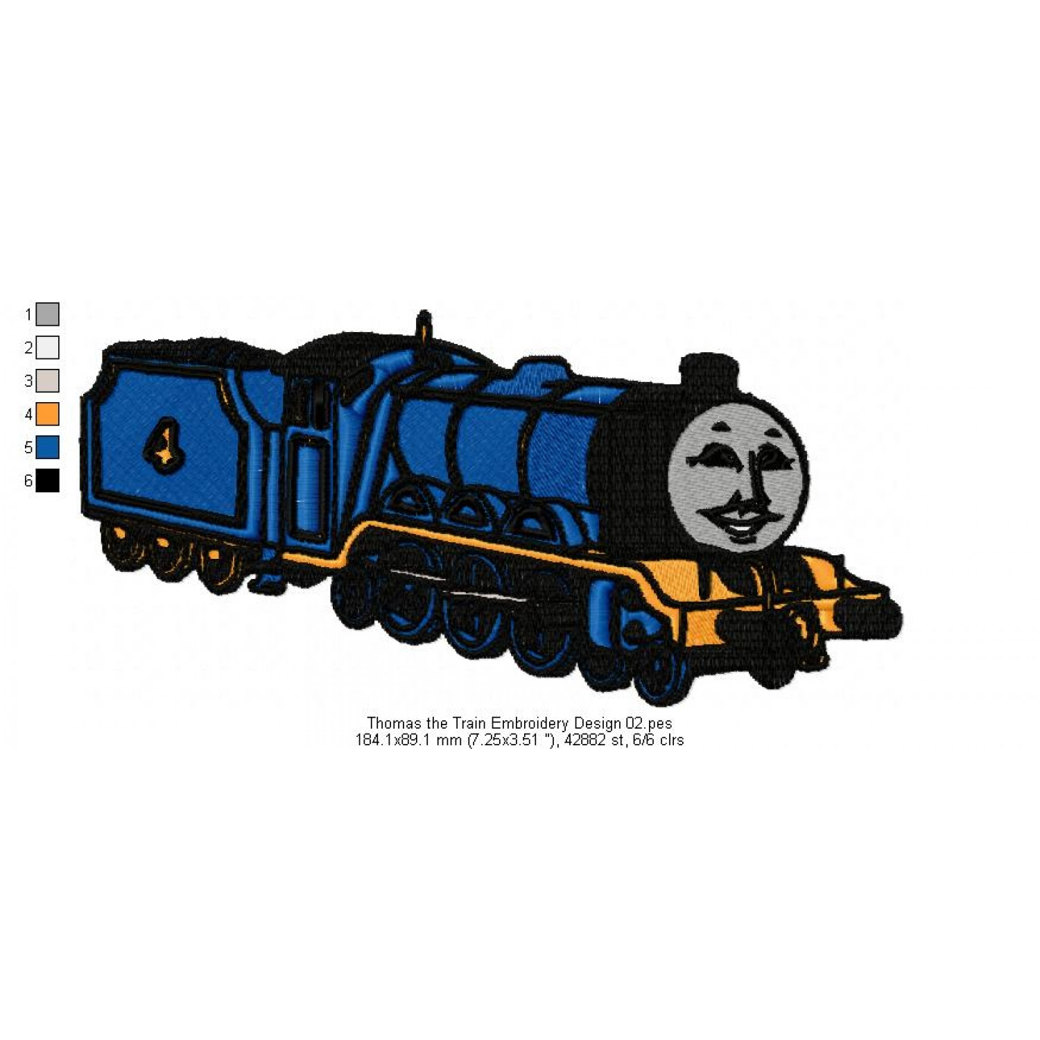 Thomas The Train Embroidery Design 02