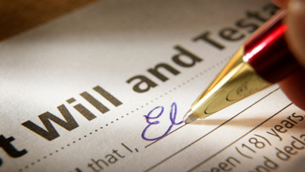 Writing last will and testament