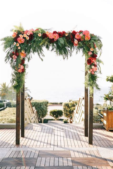 Pin by The Knot on Wedding Arches & Huppahs   Coral