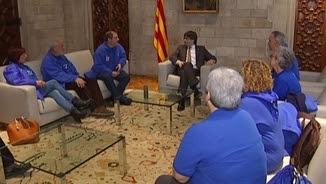 Puigdemont, amb representants de la Palataforma en Defensa de l'Ebre
