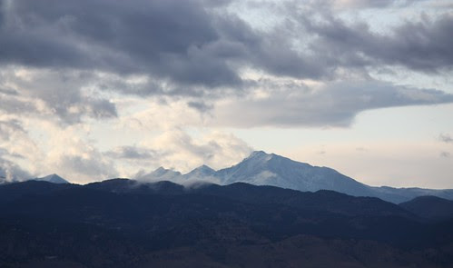 1st snow on Longs Peak